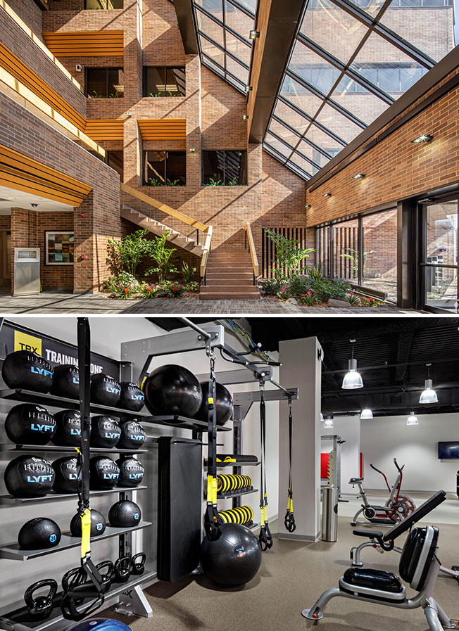 9 Campus Drive gym and interior
